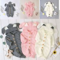 Newborn Baby Boys Girls Romper Jumpsuits Rabbit Costumes Clothes Hooded Outfits