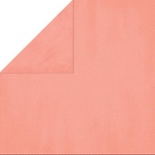 BoBunny 12x12 papel scrapbooking Doble Dot Collection, Coral Dot X 2 Hojas