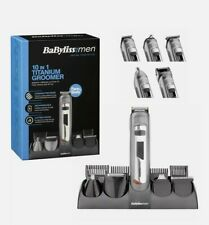 BaByliss For Men 10-In-1 Titanium Groomer Trim, Shave & Style For Face & Body