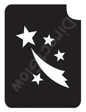 "Shooting Star 1023 Body Art Glitter Makeup Tattoo Stencil 2.75"" x 3.75""- 5 Pack"