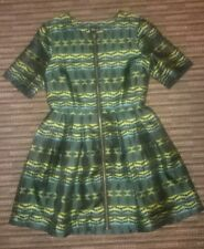 NWT Green Front Zip Through A-Line Dress By ASOS