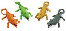 2 pack ASSORTED color PLAY 9 INCH RUBBER ALLIGATOR toy plastic pvc play GATORS