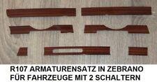 ZEBRANO HOLZ ARMATURENBRETT MERCEDES R107 FÜR 2 SCHALTER