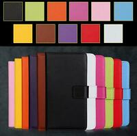 For Samsung Galaxy Mega 6.3 I9200 Genuine Real Leather Wallet Flip Case Cover