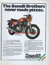 "Benelli 504 Sport Motorcycle ""Never Made Pizzas"" Magazine Advert #487"