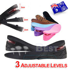 AU Air Cushion Height Increase Shoes Insoles Taller Heel Gel Inserts Lifts Pad