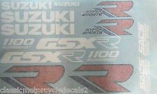 SUZUKI GSXR1100 GSXR1100K RESTORATION DECAL SET 1989 BLUE/WHITE