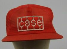 Vintage CASE IH Red Mesh Snapback Trucker Hat Cap Made In USA K brand