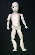 """Vintage Bisque Porcelain Jointed Doll Parts Head Body Arms Legs 16 Pieces 20"""""""