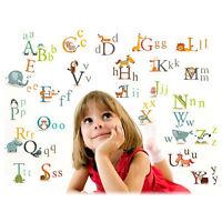 Cartoon Tier Alphabet Wandaufkleber Abnehmbare Baby Kindergarten KinderzimTPI