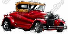 "Red Ford Hotrod Hot Rod Vehicle Classic Car Bumper Vinyl Sticker Decal 5""X3.5"""