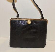 Vintage 1950's - 1960's Black Lizard Purse