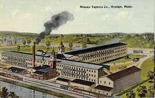 Orange Massachusetts Minute Tapioca Co Birdseye View Antique Postcard K63553