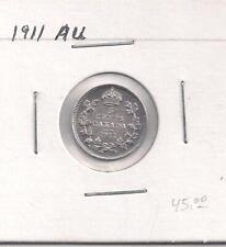 1913 F. Canada 5 Cents Silver Coin, King George the V.