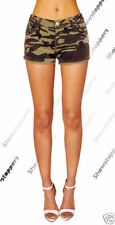 Camouflage Hot Pants Low Rise Shorts for Women