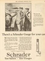 1924 Schrader Balloon Tire Gauge Brooklyn New York/NY Automotive/Car/Auto Ad