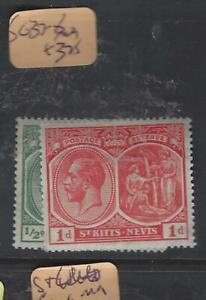 ST KITTS NEVIS   (P2103B)  KGV  1/2D,1 D COLUMBUS  SG 37-8   MOG