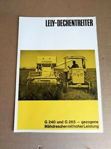 Original Prospekt LELY-DECHENTREITER G240 G265 Gezogene MÄHDRESCHER von 1968