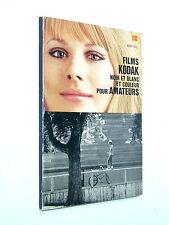 livre FILMS KODAK noir et blanc couleur catalogue 1978 photo photographie