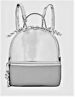 NWT Steve Madden Candace Mini Backpack  Shiny Silver MSRP $178