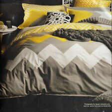 LOGAN and MASON MARLEY Yellow SINGLE Quilt / Doona / Duvet Cover BNIP