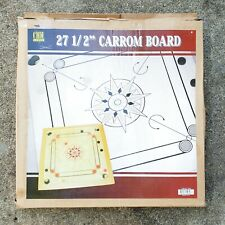 "27 ½"" Inch Indian Carrom Wooden Board Game w/ Coins Medium Size 27.5"