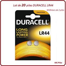 Lot 20 piles boutons AG13/LR44 alcaline Duracell, livraison rapide et gratuite