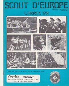 revue scout d'europe carrick 1981 (tarif)