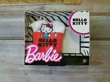 Barbie Hello Kitty Fashion Outfit Milk Red Sanrio T-shirt White Red Top Accesory