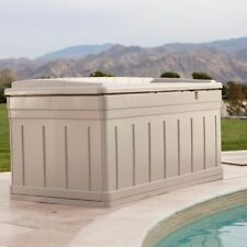 deck storage bench box patio chest pool toys swimming poolside furniture outdoor