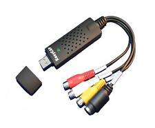USB 2.0 Audio Video Adapter Cable Grabber Capture & TV Tuner Cards EasyCAP