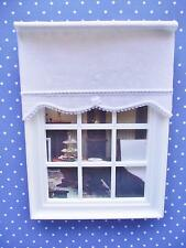 MINIATURE DOLLS HOUSE 12th SCALE WINDOW ROLLER BLIND - ELEGANCE RANGE IVW11