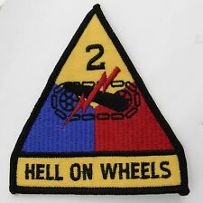 2ND ARMORED DIVISION HELL ON WHEELS US ARMY EMBROIDERED PATCH 3.75 INCHES