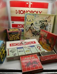 VINTAGE BOARD GAME JOB LOT. Monopoly, Chinese Chess, Go, Dominoes & Others