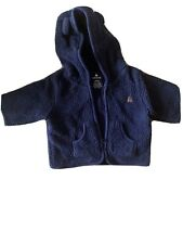 Baby GAP Boys Newborn Navy Blue Sherpa Jacket