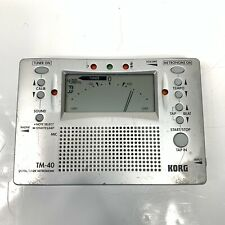 Korg TM-40 Digital Tuner Metronome TESTED WORKING
