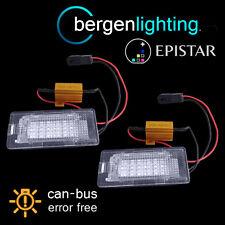 FOR VOLKSWAGEN POLO PASSAT JETTA 18 LED NUMBER PLATE LIGHT LAMP PAIR