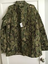 US NAVY BLOUSE NWU TYPE III / AOR2 - X-LARGE X - LONG - SEAL / NSW -NEW WITH TAG