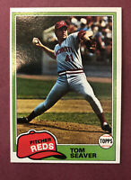 1981 Topps Tom Seaver Cincinnati Reds #220 Hall Of Fame PitcherBaseball Card