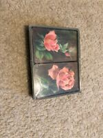 SEALED Vintage HALLMARK Playing Cards 2 Decks Roses In Case Collectibles