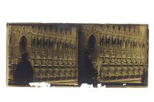 Intérieur d'une cathédralePhoto Plaque A verre Stéréo Positif Vintage 6x13 cm