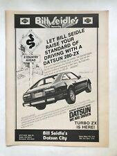 Datsun 280-ZX Turbo Vintage 1982 Print Ad