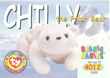Ty Beanie Babies Bboc Card - Series 2 Common - Chilly the Polar Bear - Nm/Mint