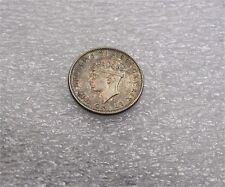 1943 Canada Newfoundland silver 10 Cents Superb patina Low mintage Au+