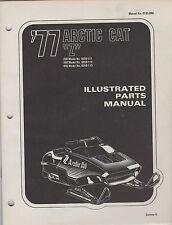 """1977 ARCTIC CAT SNOWMOBILE """"Z"""" P/N 0185-080 PART MANUAL (077)"""