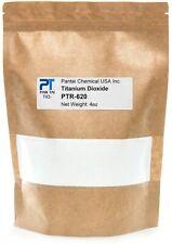 100% Pure Titanium Dioxide White Dyes Pigment Colorant TiO2 PTR-620 0.25lb /4oz