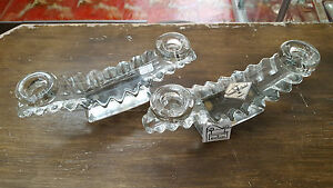 Beautiful Pair Of Candle Holders Candlesticks Crystal Valve France - REF17527