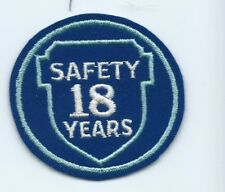 Greyhound Bus, driver patch, 18 Safety Years. 3 inch diameter #2207