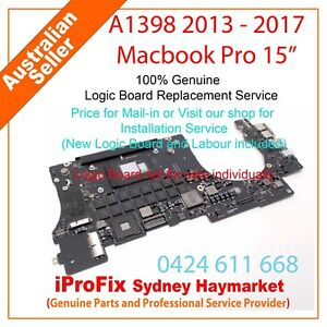 "Apple Macbook Pro 15"" A1398 2013 - 2017 Logic Board Replacement"