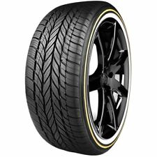 4 New 245/40R18 Vogue Custom Built Radial VIII Gold & White Stripe 97V XL Tires